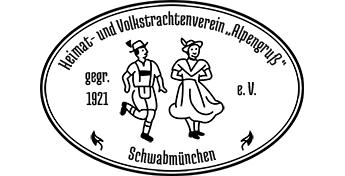 """Logo Heimat- und Volkstrachtenverein """"Alpengruß"""" Schwabmünchen e.V."""