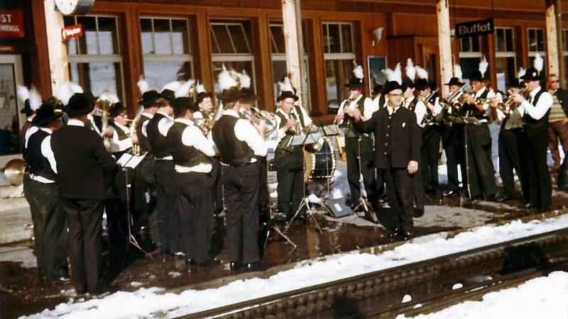 Historie Bahnhof Kleine Scheidegg / Schweiz 1970